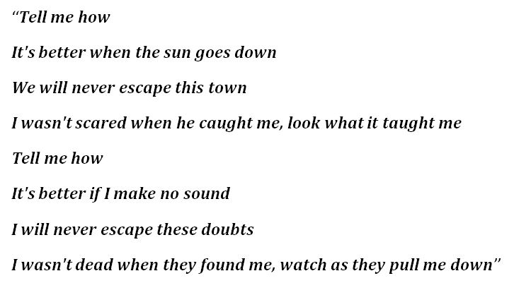 """Lyrics to """"How Not To Drown"""""""