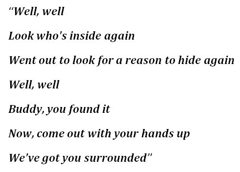 """Lyrics for Bo Burnham's """"Look Who's Inside Again"""""""