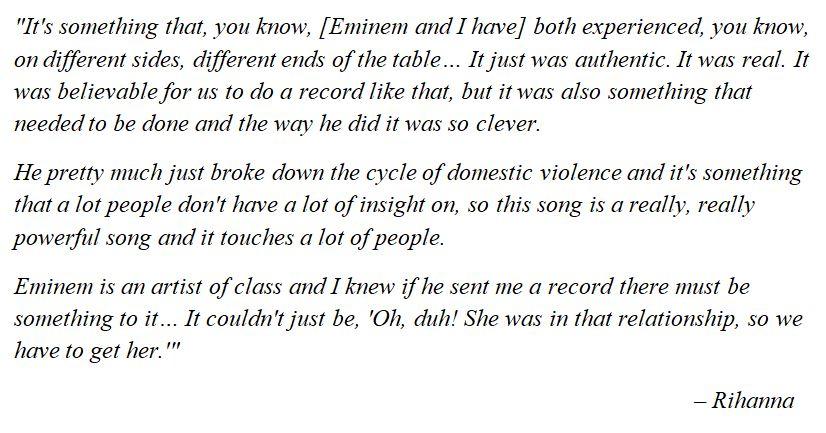 "Rihanna explains ""Love the Way You Lie"""