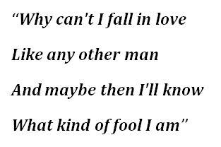 "Lyrics to ""What Kind of Fool Am I?"""