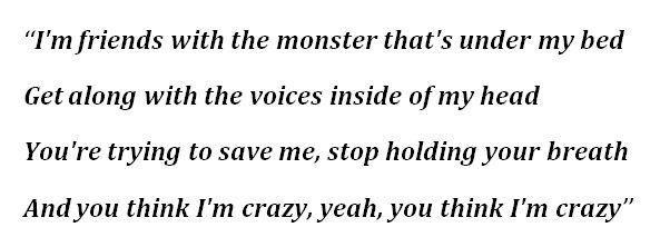 """Lyrics to Eminem's """"The Monster"""""""