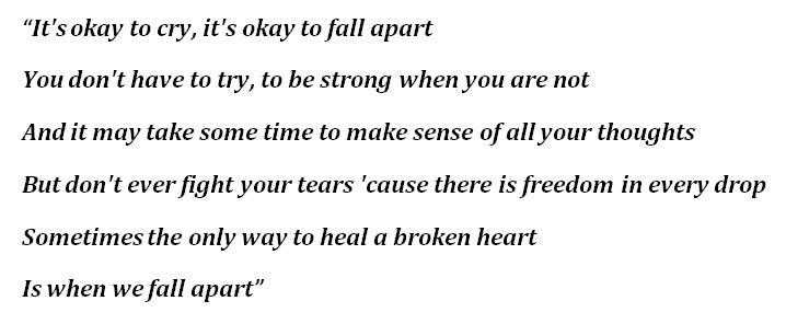 """When We Fall Apart"" Lyrics"