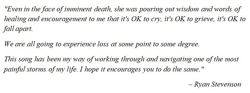 "Ryan Stevenson talks about ""When We Fall Apart"""