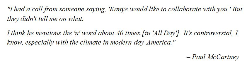 """Paul McCartney discusses """"All Day"""""""