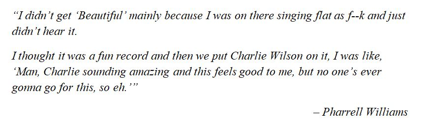 """Pharrell Williams discusses """"Beautiful"""""""