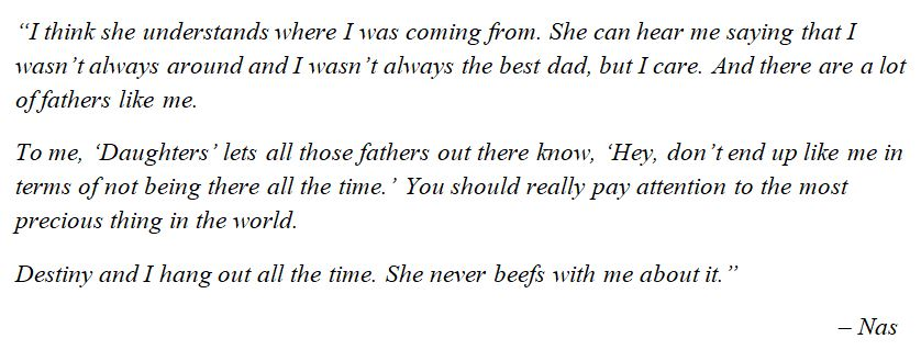 "Nas explains ""Daughters"""