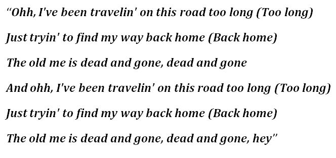 """Lyrics of """"Dead and Gone"""""""