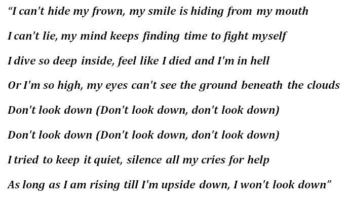 "Lyrics to Tom MacDnoald's ""Don't Look Down"""