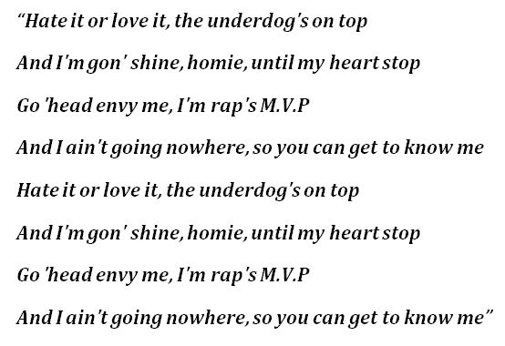 """The Game, """"Hate It Or Love It"""" Lyrics"""