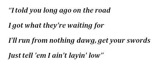"Lyrics to ""Industry Baby"""