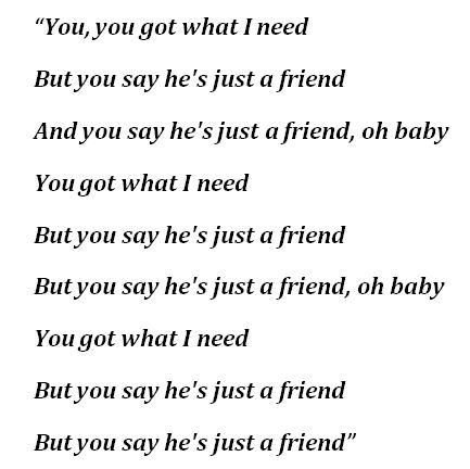 """""""Just a Friend"""" Lyrics"""