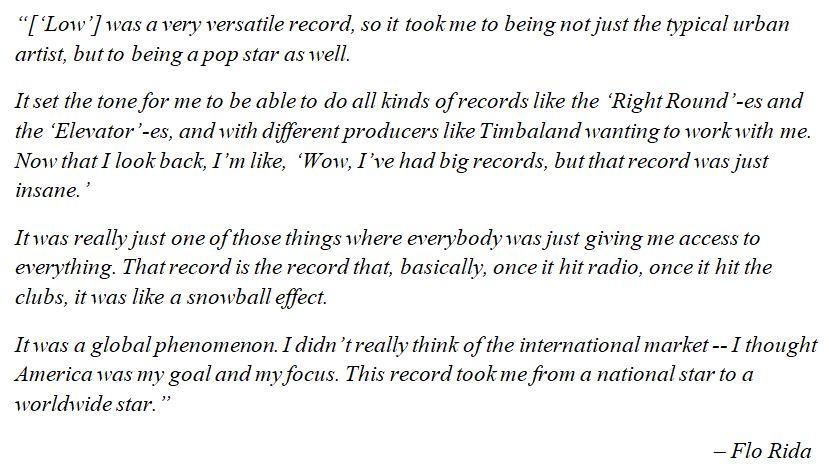 "Flo Rida explains ""Low"""