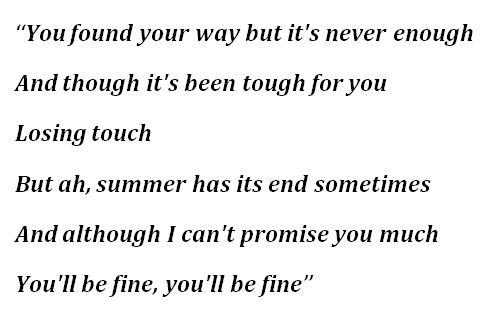 "Lyrics to ""New Normal"""