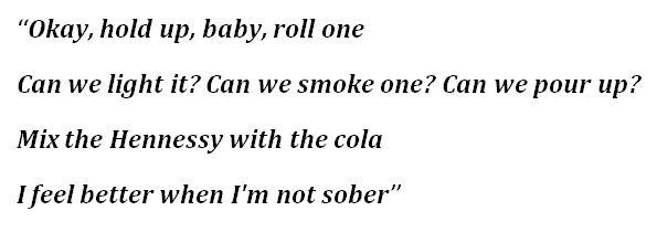 "The Kid LAROI, ""Not Sober"" Lyrics"
