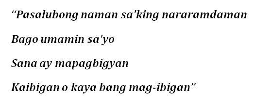 """""""Pasalubong"""" Lyrics"""