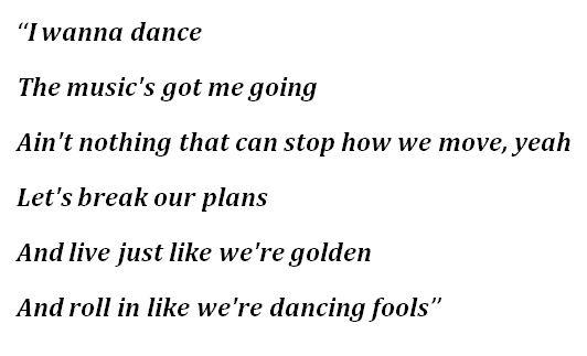 "Lyrics to ""Permission to Dance"""