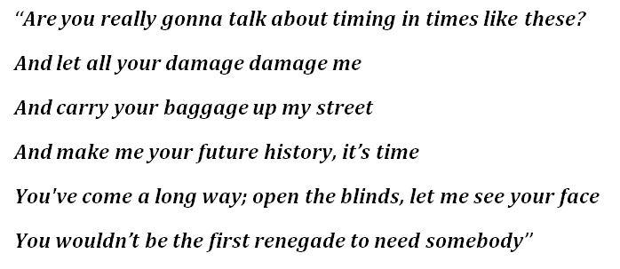 "Lyrics for ""Renegade"""