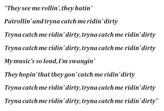 """Chamillionaire, """"Ridin'"""" Lyrics"""