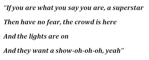 "Lyrics to ""Superstar"" by Lupe Fiasco"