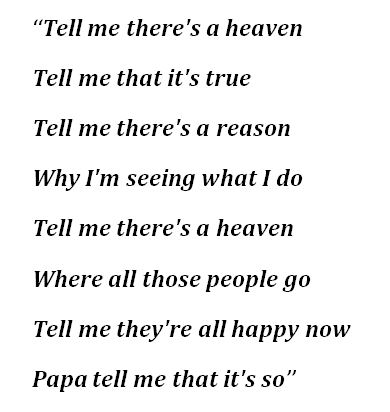 """Lyrics to Chris Rea's """"Tell Me There's a Heaven"""""""