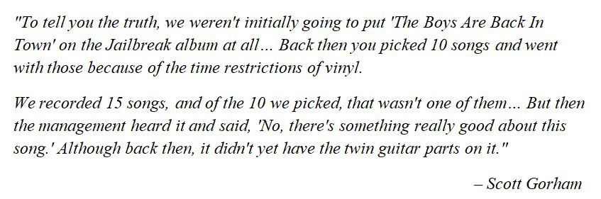 """Thin Lizzy's Scott Graham discusses """"The Boys Are Back in Town"""""""
