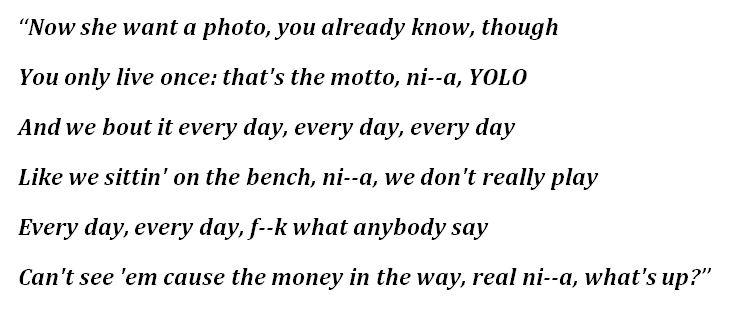 """Lyrics of """"The Motto"""""""