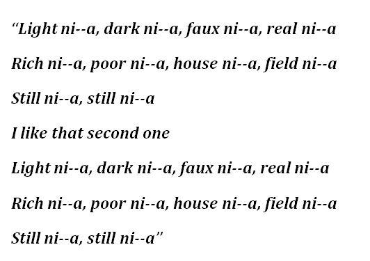 """Lyrics to """"The Story of O.J."""" by Jay-Z"""