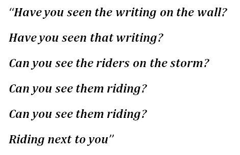 """The Writing on the Wall"" Lyrics"