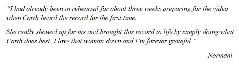 """What Normani said about """"Wild Side"""""""