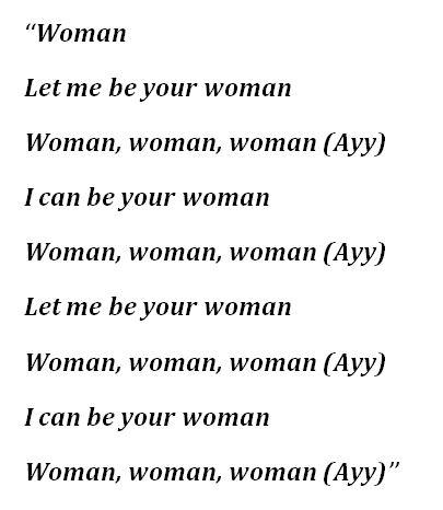 "Lyrics to ""Woman"" by Doja Cat"