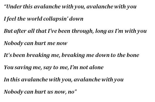 """Lyrics for """"Avalanche"""" by James Arthur"""