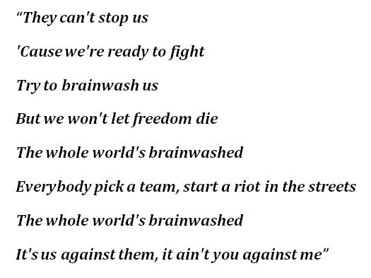 """Lyrics to """"Brainwashed"""" by Tom McDonald"""