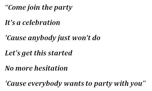 """Lyrics to """"Celebration"""" by Madonna"""