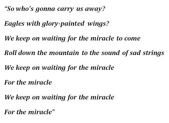 "Lyrics of The Killers' ""Cody"""