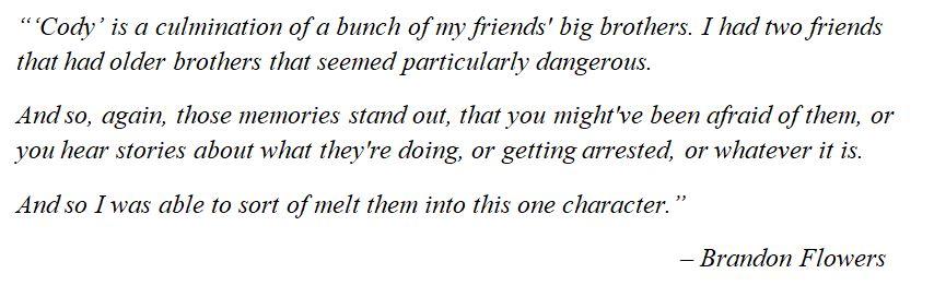 "The Killers' Flowers explains ""Cody"""