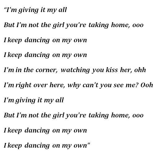 """Robyn, """"Dancing on My Own"""" Lyrics"""