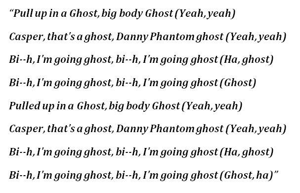 """Lyrics to Trippie Redd's """"Danny Phantom"""""""