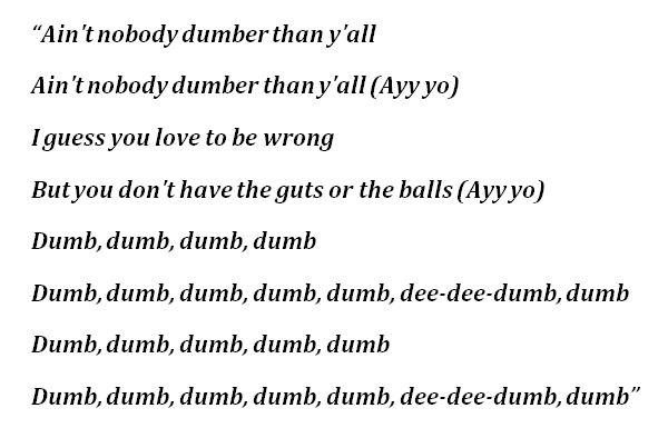"Lyrics to Tom MacDonald's ""Dummies"""