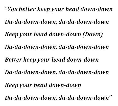 """Lyrics for """"GOLDWING"""" by Billie Eilish"""