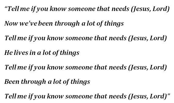 """Lyrics to Kanye West's """"Jesus Lord"""""""
