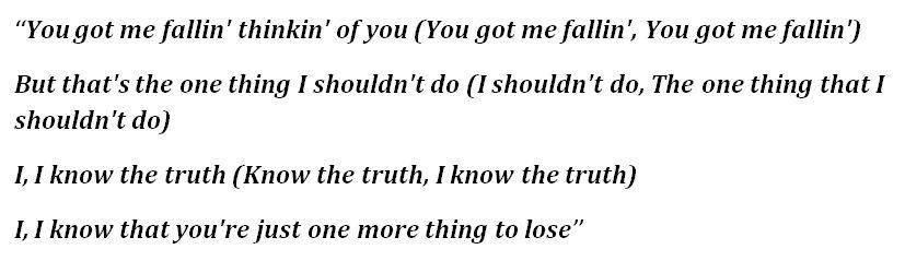 """Lyrics to """"Lose"""""""