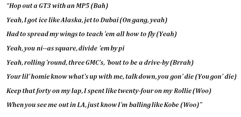"Lyrics to ""MP5"" by Trippie Redd"