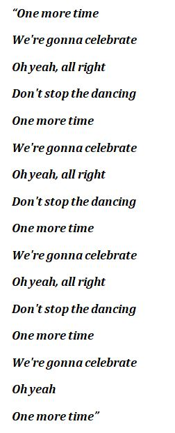 """One More Time"" Lyrics"