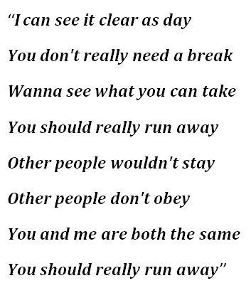 """Lyrics to """"Oxytocin"""" by Billie Eilish"""