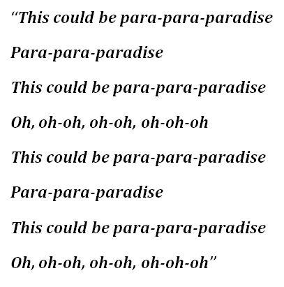 "Lyrics to Coldplay's ""Paradise"""