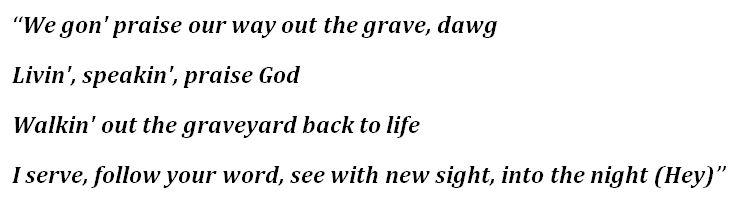 """Lyrics to Kanye West's """"Praise God"""""""
