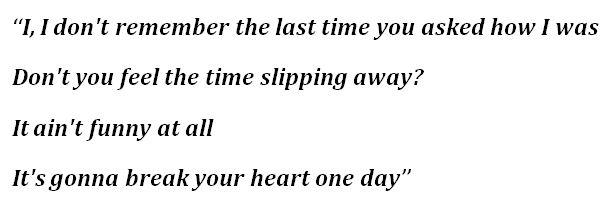 "Lyrics to The Killers' ""Pressure Machine"""