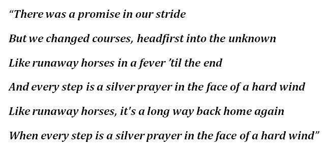 """Runaway Horses"" Lyrics"