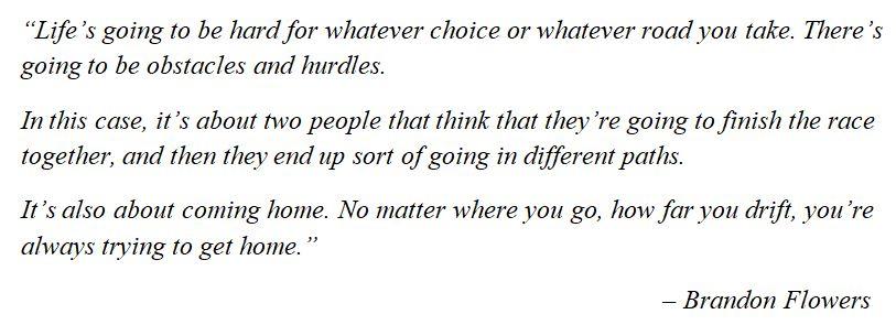 "What Brandon Flowers said of ""Runaway Horses"""