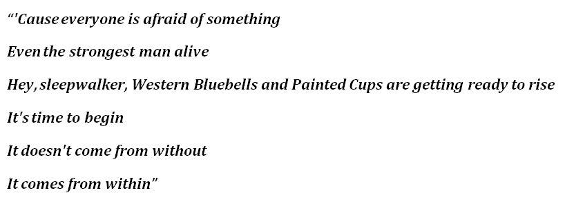"""Lyrics of """"Sleepwalker"""" by The Killers"""